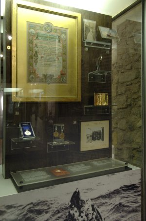 Large museum display cabinets
