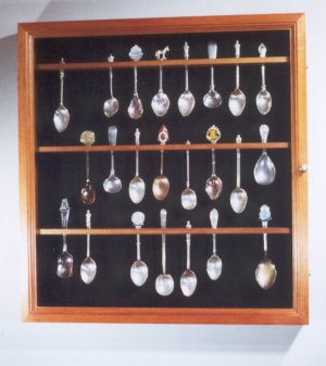Spoons in wall case